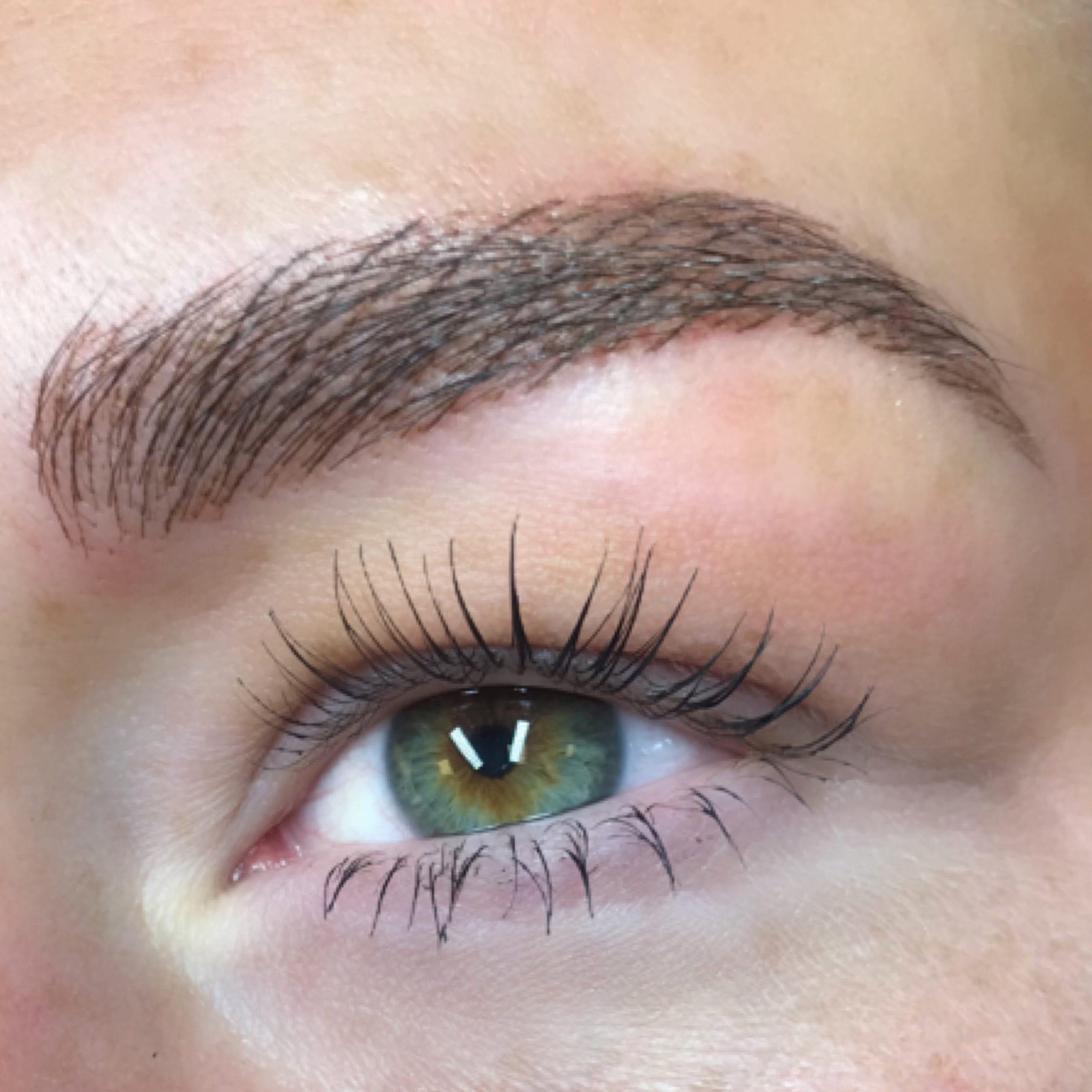 PMU hairstroke brows welll